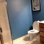 First bathroom in 2-queen 2-room suite