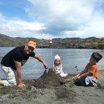 Castillos de arena en la playa