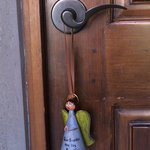 """Dreaming with the Angels"" (do not disturb) sign for the door"