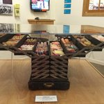 Lots of great exhibits, like traveling candy salesman cases!