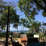 View of Playas del Coco beach from Claudio y Gloria's restaurant