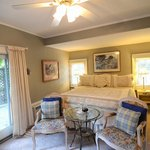 Ground floor Deluxe Room with a King Size Bed and attached Bath