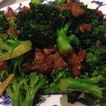 Broccoli beef (a little salty, but delicious and plenty of beef)