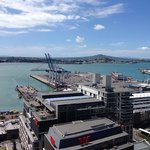 View of Rangitoto Island and the Harbor from hotel.