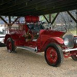 An old fire brigade truck on site.