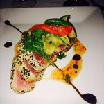 The (flavorless) ahi tuna that took 2 hours to get to our table. Looks nice but lacked any spice