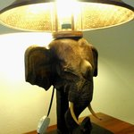 table lamp in the room