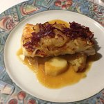 hake with caramelized onions