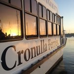 cronulla ferries vessel the Gunnamatta preparing to depart for a sunset dinner cruise