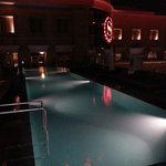 Roof-Top Pool at Night