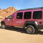 Pink Jeep on the Valley of Fire tour