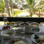 organic tasty lunch served at our private balcony