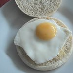 Fried egg bap at Picnic Pantry Broadstairs