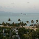 overlooking beachside villas