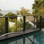 View from hillside pool villa 222