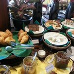 Cakes and breads for breakfast