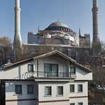 Exterior building of the hotel & Hagia Sophia