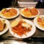 Burger mit Fries
