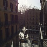 View from room 23 of La Rambla