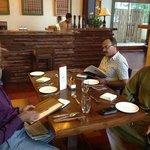 Nice wooden decor of Cafe Shilong Heritage.