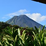 Arenal volcano from the back porch