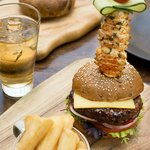 Beef Burger & Lobster