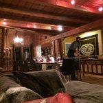Lounge/diner area of chalet