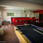 Bar and pool table