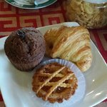 Pastries served at breakfast