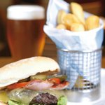 Cheese & Bacon Burger & Chips