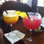 Happy hour at tiki bar