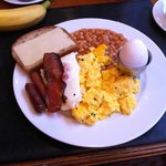 Cooked breakfast - 3 types of egg!