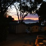coucher de soleil au camping