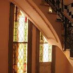 Vidrios de la escalera de acceso