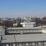 View from rooftop bar- White House