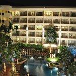 Mercure hotel in the evening