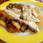 Lunch - grilled fish