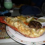 Surf & Turf (Lobster Thermidor and Filet Mignon)