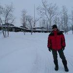 Mattarahkka Lodge is in the background