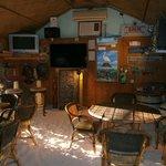 Inside the best beach bar.