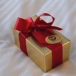 Complimentary chocolates