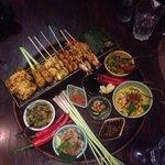 Seafood dinner set