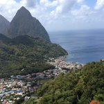 View Soufriere, coming down the mountain from the Crystals