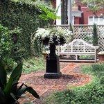 The formal garden.