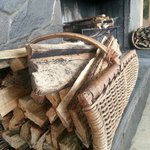Wood for burning at fire place