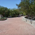Parking lot entrance to playa Entrega