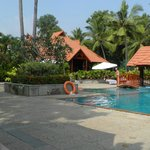 Pool area with restaurant and swim up bar
