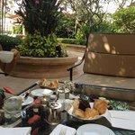 Unser Frühstück im Garten