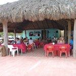 Playa Bocana beachfront restaurant. Burgers are good!