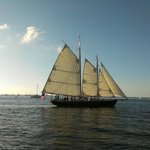 Schooner America 2.0 before sunset